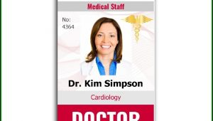 Doctor Id Badge Template Free