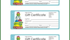 Downloadable Gift Certificate Templates Free