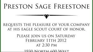 Eagle Scout Invitation Template Word