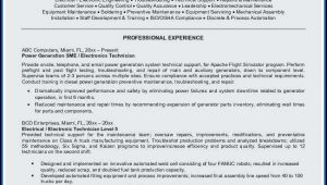 Electronics Assembly Technician Resume Sample