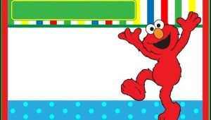 Elmo Birthday Invitation Template Free