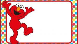 Elmo Invitation Template