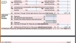 Form 1040a 2014