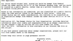 Form Letter For Non Profit Donations