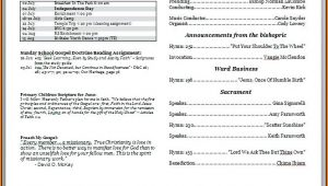 Free Church Bulletin Templates Download