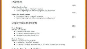 Free First Job Resume Templates