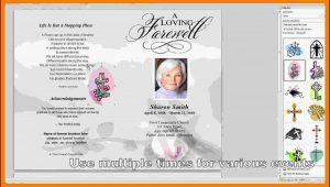 Free Funeral Program Template Microsoft Word 2010