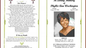 Free Funeral Program Template Microsoft Word Download