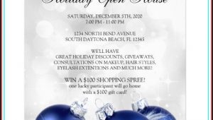 Free Holiday Open House Flyer Template
