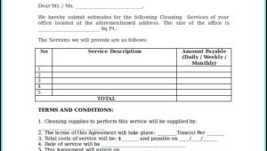 Free Janitorial Bid Proposal Template
