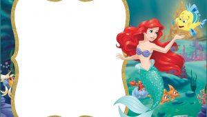 Free Little Mermaid Invitation Template