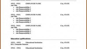 Free Printable Resume Templates Pdf