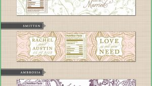 Free Printable Water Bottle Label Template Wedding