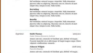 Free Resume Layouts Microsoft Word