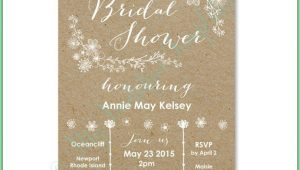 Free Rustic Bridal Shower Invitation Templates