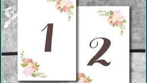 Free Table Number Templates 5×7