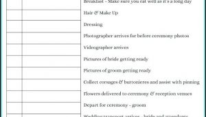 Free Wedding Itinerary Template Excel