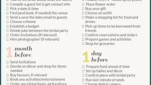 Free Wedding Itinerary Template For Bridal Party