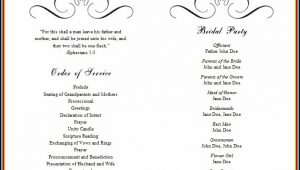 Free Wedding Program Templates Microsoft Word