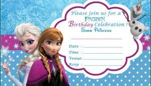 Frozen Invitation Template Psd