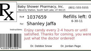 Funny Prescription Bottle Label Template