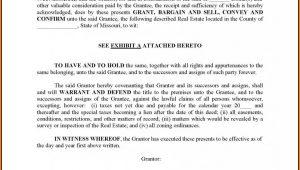 General Warranty Deed Form Missouri