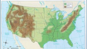 Geographic Features Of The United States Map