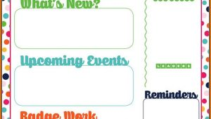 Girl Scout Newsletter Template Free
