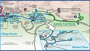 Grand Canyon Hotels South Rim Map
