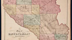 Historical Atlas Map Of Santa Clara County California