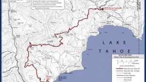 Lake Tahoe Rim Trail Map