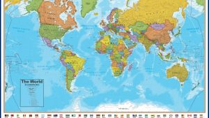 Laminated World Maps For Sale