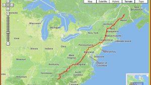 Map Of Appalachian Trail