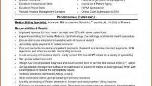 Medical Billing And Coding Resume Entry Level
