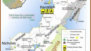 Monongahela National Forest Map