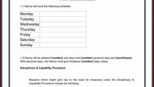 Nanny Contract Template Ireland