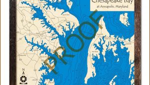 Nautical Wood Maps Annapolis