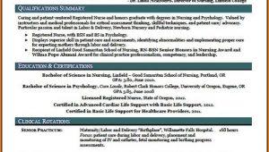New Grad Nurse Resume Template