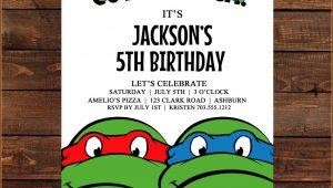 Ninja Turtles Invitation Template Free