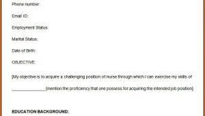 Nursing Resume Format Free Download