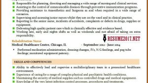 Nursing Resume Templates 2017