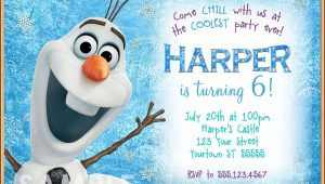 Olaf Invitation Template