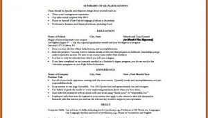 One Page Resume Template Word Free Download