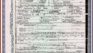 Oregon Birth Certificate Form