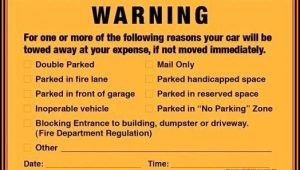 Parking Violation Notice Template