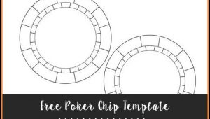 Poker Chip Template