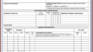 Printable Bill Of Lading Forms Free