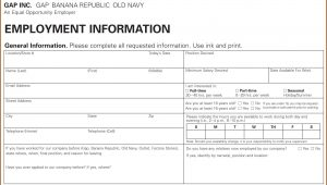 Printable Job Application Forms For 16 Year Olds