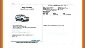 Progressive Insurance Id Card Template