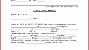 Quit Claim Deed Form Florida Free